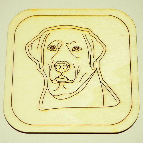 Labrador kutya poháralátét 1